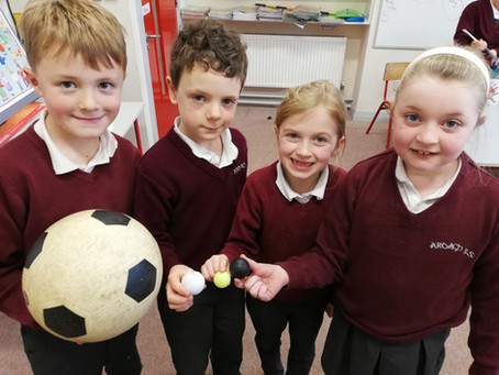 Science Week in 1st and 2nd Class.