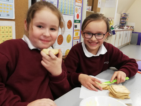 Making Butter in 1st and 2nd class
