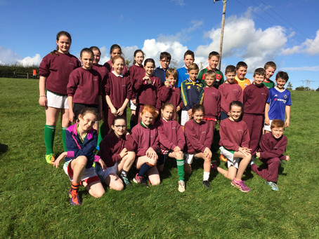 The 3rd/4th class team & 5th/6th class    team who participated in the Cross Country in belleek