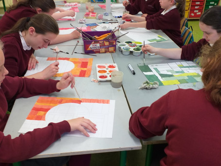 Exploring paint and colour in 5th & 6th class
