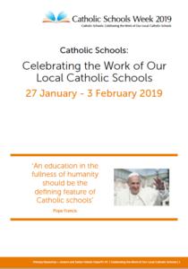 Catholic Schools Week Jan 27th-Feb 3rd