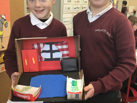 Recycled Art in 1st and 2nd class