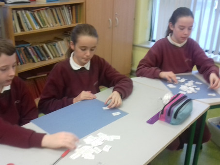 """5th & 6th class really enjoyed reading the novel """"Holes """" by Louis Sachar. Here we are"""