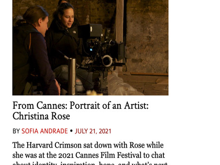 From Cannes: Portrait of an Artist: Christina Rose
