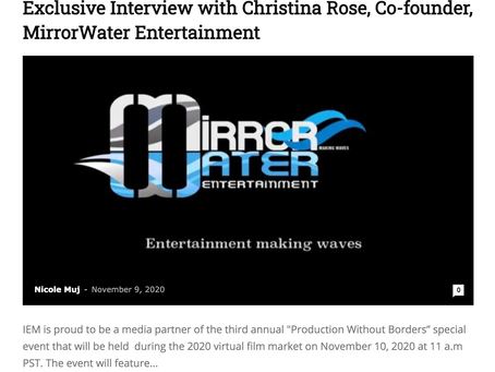 Exclusive Interview with Christina Rose, Co-founder, MirrorWater Entertainment