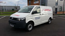 Smll Transit van for sameday courier deliveries