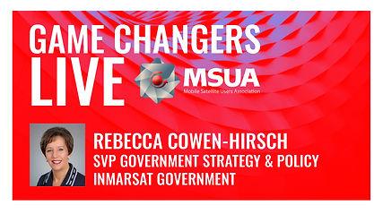 Game Changers LIVE Rebecca Cowen Hirsch