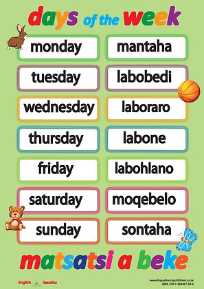Days of the Week - Sesotho