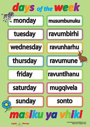Days of the Week - Xitsonga