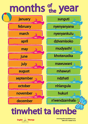 Months - Xitsonga