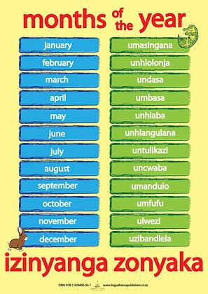 Months - IsiZulu