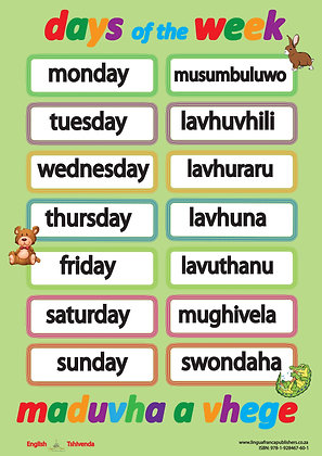 Days of the Week - Tshivenda