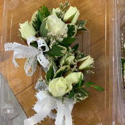 White Spray Rose Corsages