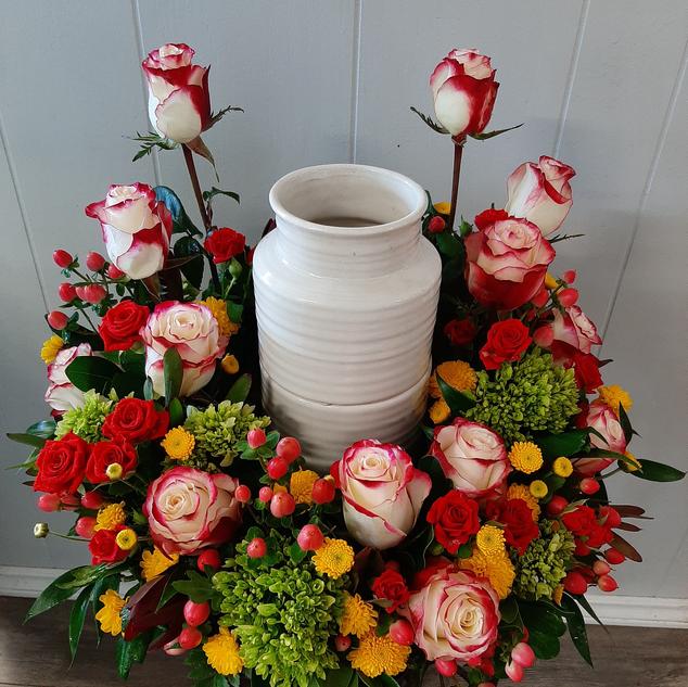 Colourful Urn Arrangement