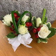 Corsage & Boutonniere Including Bear Grass
