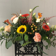 Fall Themed Long n Low Centerpiece