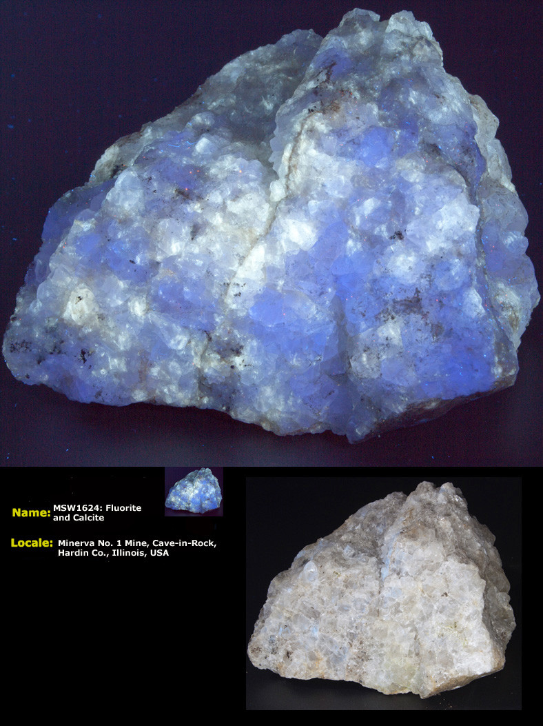 Fluorite Calcite Minerva #1 SW