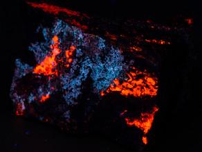 Margarosanite on Calcite - Sweden (Jakobsberg Mine)