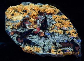 Afghanite, Calcite, Phlogopite, w/ Unknowns - Afghanistan