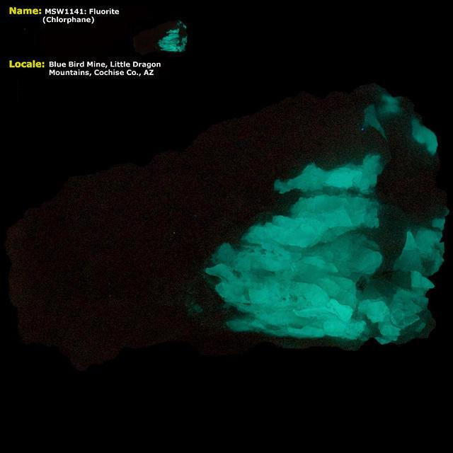 Fluorite (Chlorophane) - Blue Bird Mine, Little Dragon Mts, Cochise Co. AZ