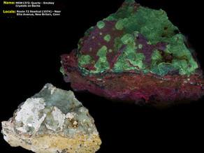 Quartz - Smoky Crystals on Barite - New Britain, Connecticut