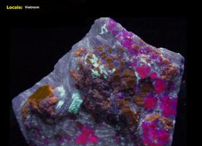 Humite, Paragasite, Spinel - Vietnam