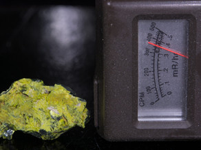 Like Hot Rocks?  Autunite from the Daybreak Mine, Spokane, WA