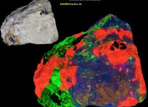 Hardystonite, Clinohedrite, Willemite, Calcite - Franklin, New Jersey