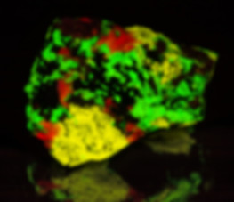 Classic Franklin Fluorescent Mineral - Esperite, Willemite, Calcite