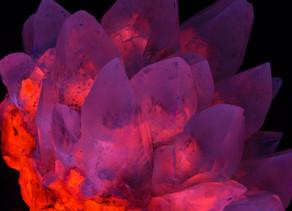 Blue Tip Calcite (Phantoms) - Palmarejo Mine, Mexico