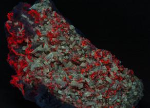 Barite Crystals on Calcite - Muscadroxiu Mine, Sardinia Italy