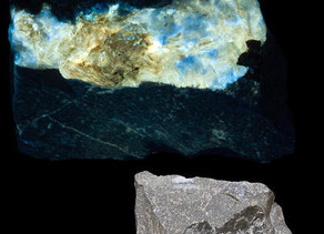 Calcite and ? - Elmwood Mine, Elmwood TN