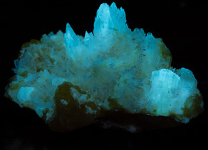 Celestine on Sulfur from Italy