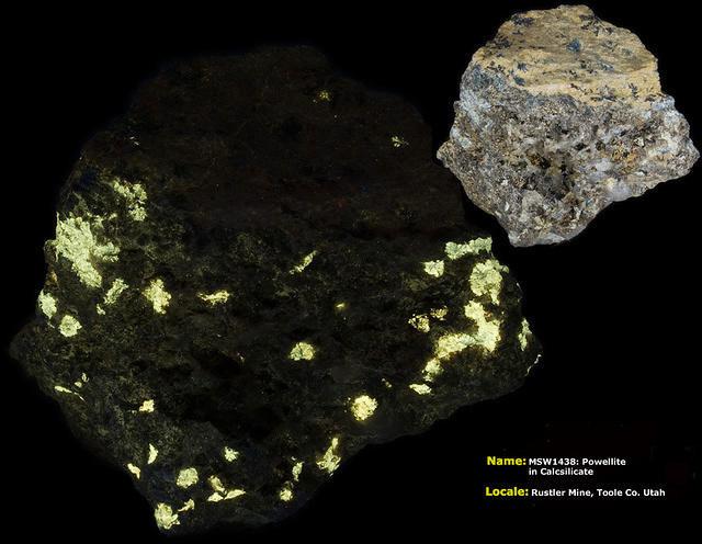 Powellite - Rustler Mine, Toole Co., Utah