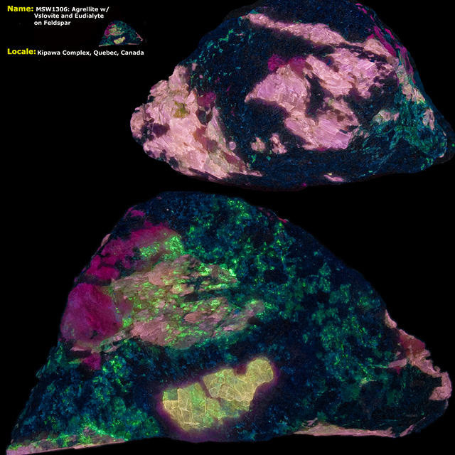 Agrellite and Vslovite - Kipawa Complex - Shortwave