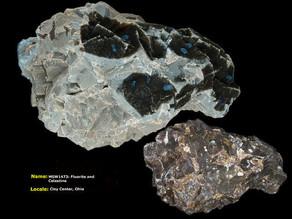 Fluorite and Celestine - Clay Center, Ohio