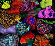 Fluorescent Minerals - Calcite, Fluorite, Zircon, Tugtupite, Leucophanite, Scheelite, Willemite