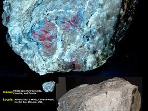 Hydrozincite, Fluorite, Calcite - Minerva #1 Mine, Hardin County IL