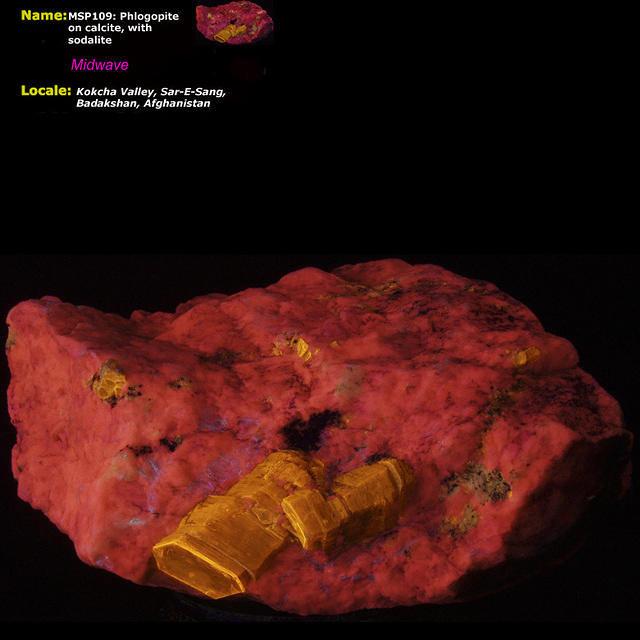Phlogopite on Calcite - Midwave, Afghanistan