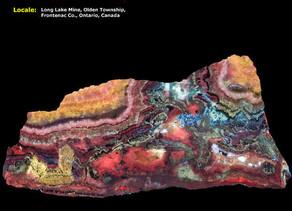 Calcite, Aragonite, Chondrodite, Diopside - Long Lake Zinc Mine, Canada
