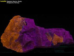 Sodalite on Feldspar - Sagasen Quarry, Norway