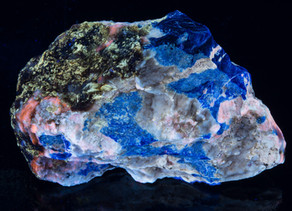 Sodalite, Phlogopite, w/ Nosean? Hauyne? A very confusing piece - very interesting fluorescence