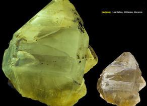 Cerussite Crystal - Mbladen, Morocco