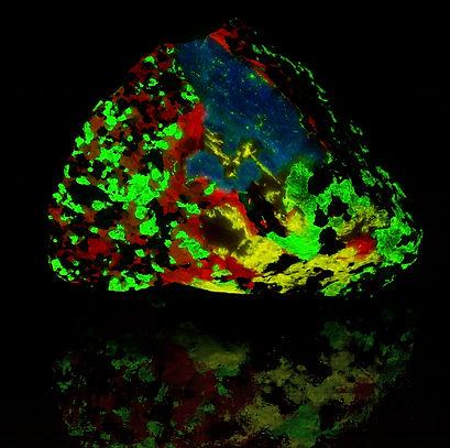 Franklin Esperite, Calcite, Willemite, Hardystonite