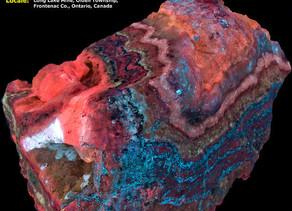 Layer Cake - Chondrodite, Calcite, Diopside, Hydrozincite, Aragonite - Long Lake Zinc Mine - Ontario
