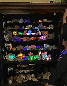Longwave UV Fluorescent Mineral Display
