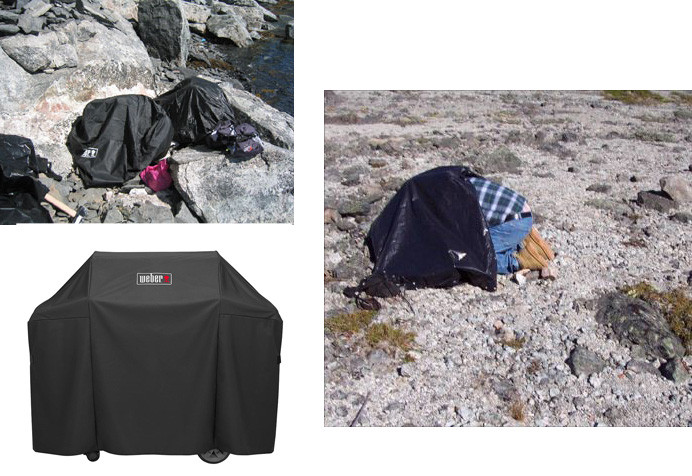 Portable darkness - BBQ grill covers