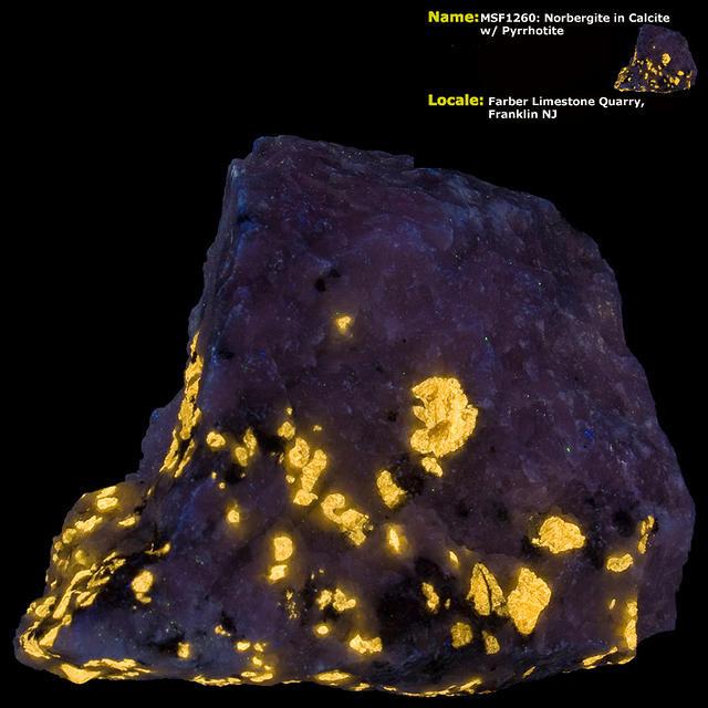 Norbergite Shortwave - Farber Quarry, Franklin, NJ