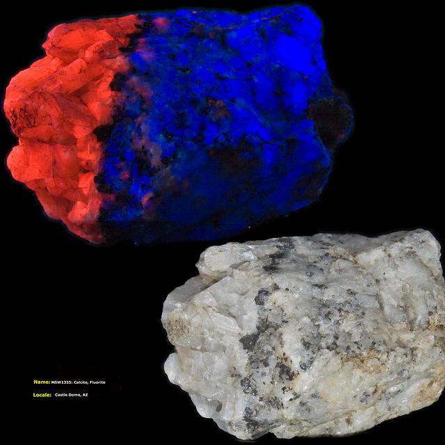 Calcite, Fluorite - Castle Dome, AZ