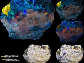 Gotta get to Burma one day!  Sodalite (Hackmanite), Fluorite, Fluorapatite, Johachidolite, Phlogopit